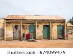 sanyang  gambia   may 08  2017  ... | Shutterstock . vector #674099479