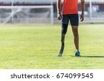 close up disabled man athlete... | Shutterstock . vector #674099545