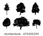 tree collection set of black... | Shutterstock .eps vector #674102194