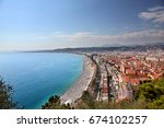 aerial view of the beach and... | Shutterstock . vector #674102257