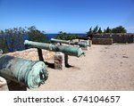 cannons in the citadelle in... | Shutterstock . vector #674104657