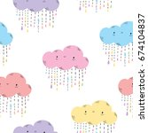 seamless pattern with cute...   Shutterstock .eps vector #674104837