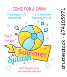 pool party poster with... | Shutterstock .eps vector #674105971