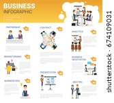 business infographics set with... | Shutterstock .eps vector #674109031