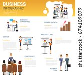 business infographics set with... | Shutterstock .eps vector #674109079