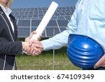 handshake agreement for... | Shutterstock . vector #674109349