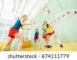 portrait of teenage basketball... | Shutterstock . vector #674111779