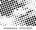 abstract halftone dotted... | Shutterstock .eps vector #674112031