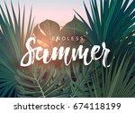 summer tropical design for... | Shutterstock . vector #674118199