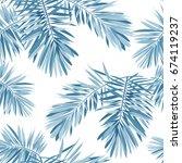 indigo seamless pattern with... | Shutterstock . vector #674119237