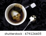 Cup Of Tea With A Skull Cup