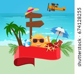 summer vector banner design... | Shutterstock .eps vector #674128255