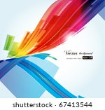 abstract background vector | Shutterstock .eps vector #67413544