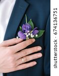 graceful stylish buttonhole of... | Shutterstock . vector #674136751
