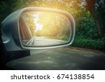 car mirror or side view mirrors ... | Shutterstock . vector #674138854