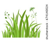grass icon. silhouette of... | Shutterstock .eps vector #674140024