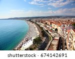aerial view of the beach and... | Shutterstock . vector #674142691