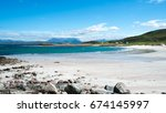 mellon udrigle beach  wester... | Shutterstock . vector #674145997