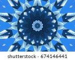 Blue Navy Kaleidoscope Pattern...