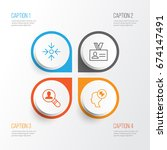 corporate icons set. collection ... | Shutterstock .eps vector #674147491