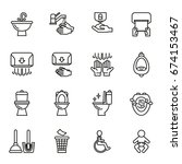 toilet public sign symbol icon... | Shutterstock .eps vector #674153467