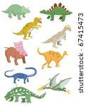 cartoon dinosaurs icon