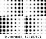 abstract halftone dotted... | Shutterstock .eps vector #674157571
