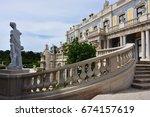 queluz  portugal   june 03 ... | Shutterstock . vector #674157619