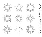 sunburst ink hand drawn vector... | Shutterstock .eps vector #674157754