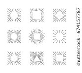 sunburst ink hand drawn vector... | Shutterstock .eps vector #674157787