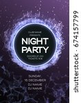 night party dance poster... | Shutterstock .eps vector #674157799