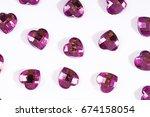 rhinestone bling background.... | Shutterstock . vector #674158054
