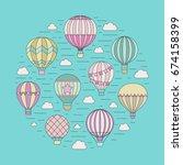 aerostats  air balloons  in the ... | Shutterstock .eps vector #674158399