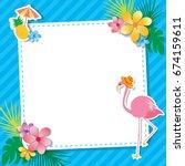 vector of summer template...   Shutterstock .eps vector #674159611