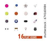 set of 16 editable training... | Shutterstock .eps vector #674160484