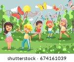 stock vector illustration... | Shutterstock .eps vector #674161039