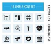 set of 12 editable fitness...