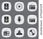 set of 9 editable sound icons....