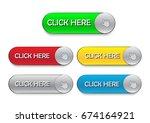 click here button vector set... | Shutterstock .eps vector #674164921