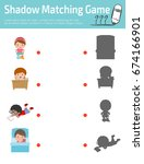 shadow matching game for kids ...   Shutterstock .eps vector #674166901