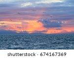 Setting Sun Over Catalina Island