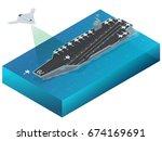 isometric long range strike... | Shutterstock .eps vector #674169691