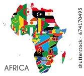 political africa map vector... | Shutterstock .eps vector #674170495