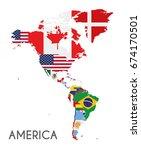 political america map vector... | Shutterstock .eps vector #674170501