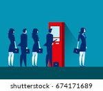 people and atm . concept... | Shutterstock .eps vector #674171689