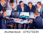 business people office life of... | Shutterstock . vector #674173234