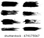 collection of artistic grungy... | Shutterstock . vector #674175067