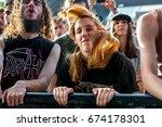 madrid   jun 23  crowd in a...   Shutterstock . vector #674178301