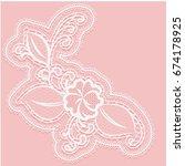 lacy flower with openwork... | Shutterstock . vector #674178925