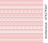 set of delicate lace borders... | Shutterstock .eps vector #674179267